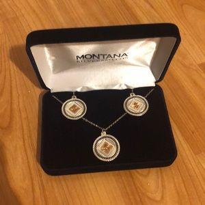 Montana Silversmiths Necklace &Earrings Set